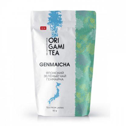 "Японский зелёный чай Origami Tea ""Генмайча"""