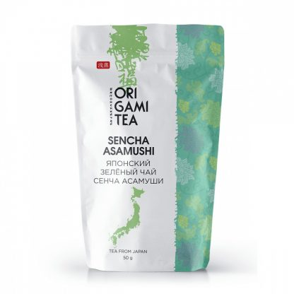 "Японский зелёный чай Origami Tea ""Асамуши Сенча"""