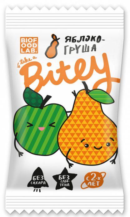 """Батончик фруктово-ягодный Take a Bitey """"Яблоко-Груша"""""""