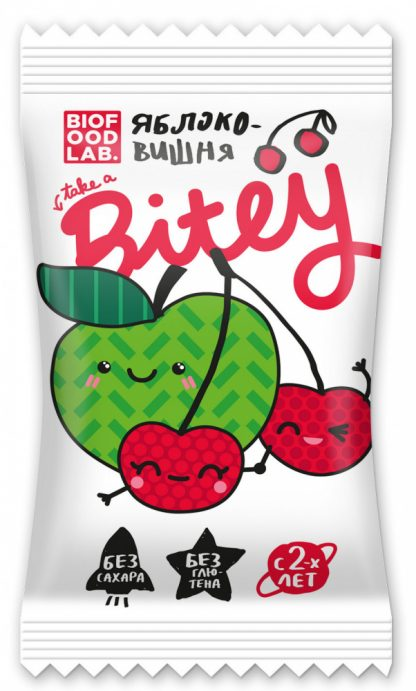 """Батончик фруктово-ягодный Take a Bitey """"Яблоко-Вишня"""""""