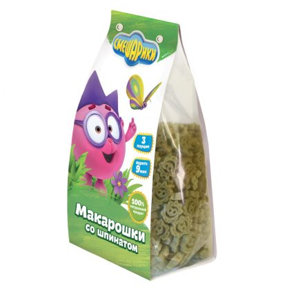 """Макароны Смешарики """"Макарошки со шпинатом"""""""