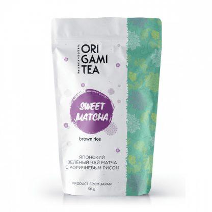 """Японский зелёный чай Origami Tea """"Матча с коричневым рисом"""""""