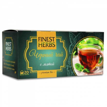 "Чай Finest Herbs ""Чёрный чай с мятой"""