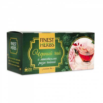 """Чай Finest Herbs """"Чёрный чай с лепестками розы чайной"""""""