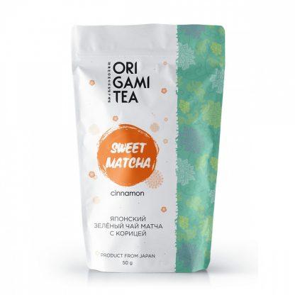 """Японский зелёный чай Origami Tea """"Матча с корицей"""""""