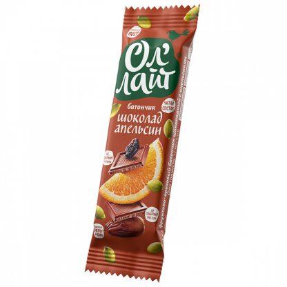 """Фруктово-ореховый батончик Ол'Лайт """"Шоколад и апельсин"""""""