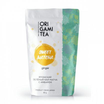 """Японский зелёный чай Origami Tea """"Матча с имбирём"""""""